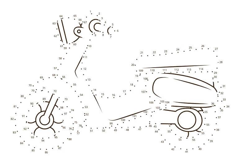 חיבור נקודות אופנוע