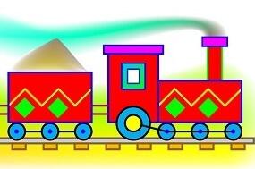 לצייר רכבת