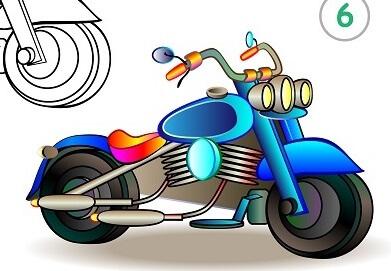 לצייר אופנוע
