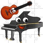 פאזל פסנתר וגיטרה