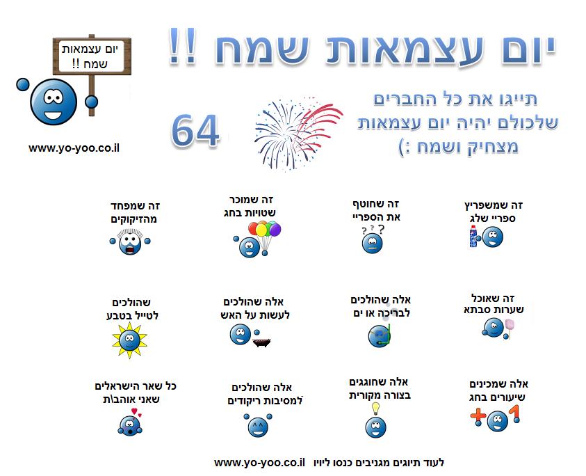 עצמאות  65 שמח 2012