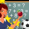 בואו ללמוד חשבון, משחק לימוד חשבון לילדים , בואו ללמוד חשבון בסיסי,  משחק לימוד חיבור , אפשר להשתמש בפירות ובכוכבים למטה לגרור ולדעת כמה זה שווה