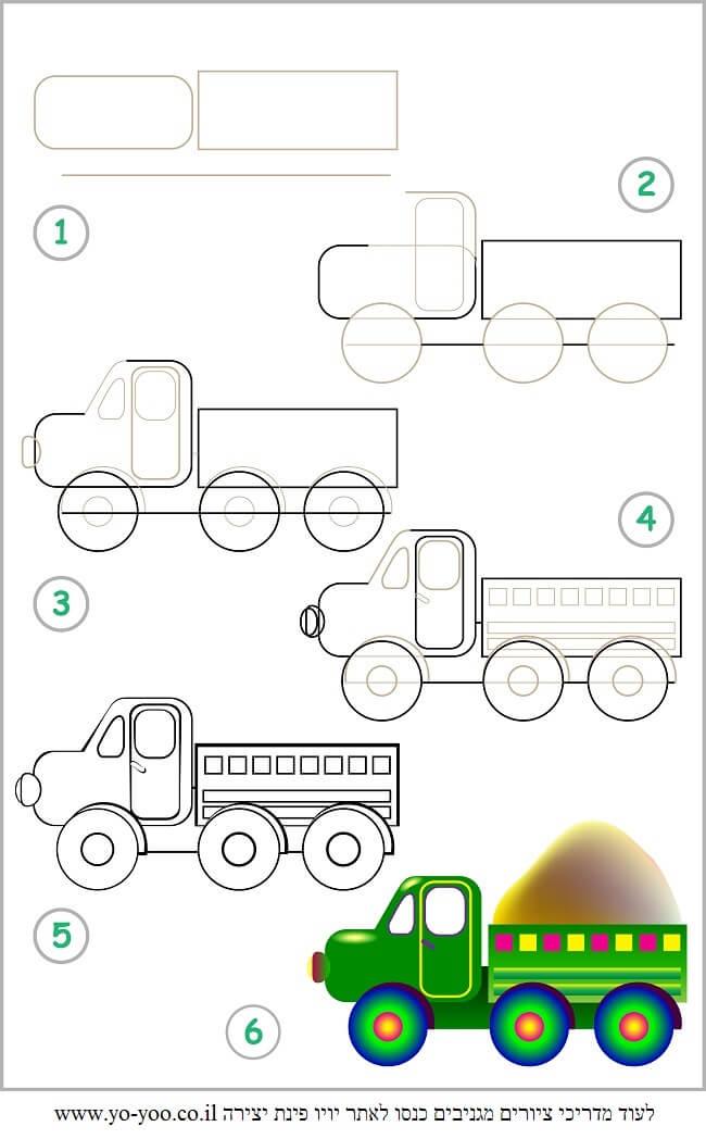 לצייר משאית