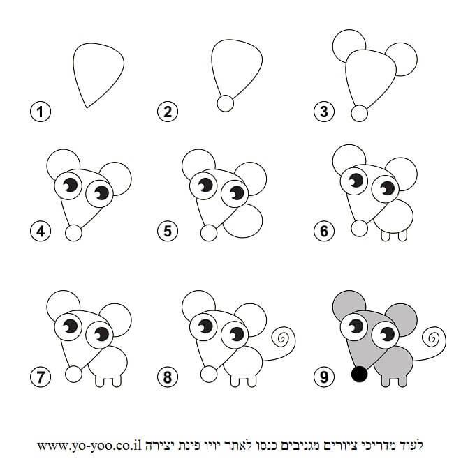 איך לצייר עכבר