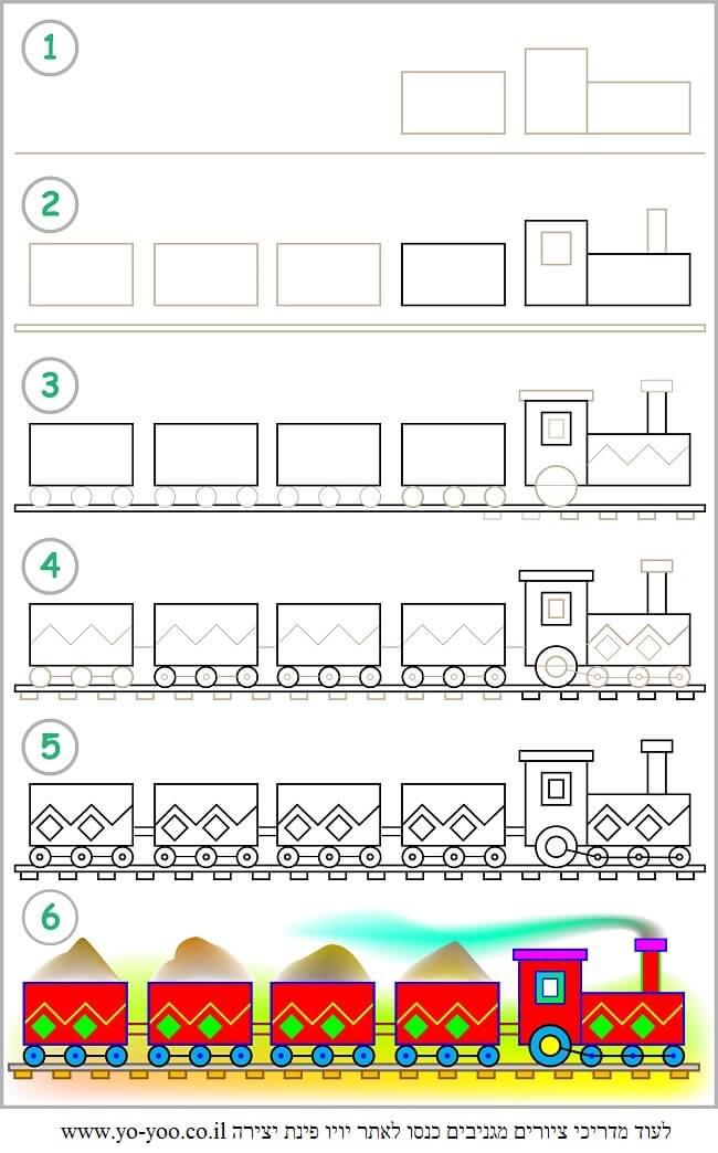ציור רכבת
