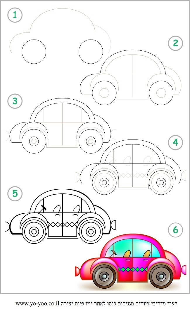 איך לצייר מכונית