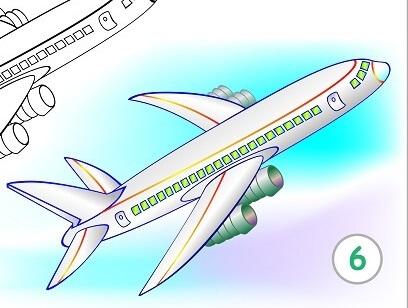 לצייר מטוס נוסעים