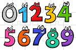 פאזל אונליין של מספרים לילדים בחינם למחשב או לפלאפון, בחרו את מספר החלקים שאתם רוצים, תערבבו אותם ותרכיבו.