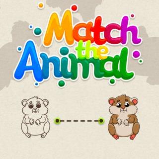 משחק התאמת חיות לילדים קטנים , מתאים גם לתינוקות , משחק פיתוח חשיבה לתינוקות , התאימו את החיות הדומות ומתחו קו ביניהן