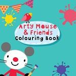 חוברת צביעה לילדים עם עכבר חמוד ומגניב בעשרות ציורים שונים לצביעה