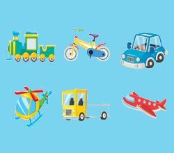 קולות של כלי רכב עם תמונות- משחק חדש